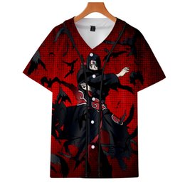 Wholesale sasuke s cosplay for sale - Group buy NARUTO Uzumaki Naruto Uchiha Sasuke short sleeved baseball Kakarot Printed Vitale Nero Dante Cosplay clothes autumn unisex