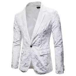 Wholesale velvet jackets for sale – winter PADEGAO Brand high quality new men s fashion casual suit sina wedding party color dress masonry velvet suit jacket