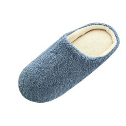 $enCountryForm.capitalKeyWord UK - 2019 Unisex Winter Home Floor Soft Men Indoor Slippers Outsole Cotton-Padded Shoes Home Slippers Short Plush Floor Bedroom Shoes