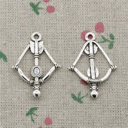 $enCountryForm.capitalKeyWord Australia - 58pcs Charms crossbow bow 20mm Tibetan Silver Vintage Pendants For Jewelry Making DIY Bracelet Necklace