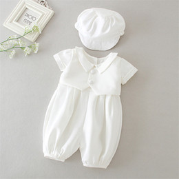 2020 New Baby Boy Christening Suits Formal Gentleman Clothing Sets Wedding Infant Boy Baptism First Birthday Shower Outfits on Sale