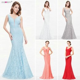 $enCountryForm.capitalKeyWord Australia - Lace Mermaid Prom Dresses Long 2019 Ever Pretty Ep08838 Christmas Holiday Party Sexy V-neck Elegant Prom Gala Dresses Gowns J190629