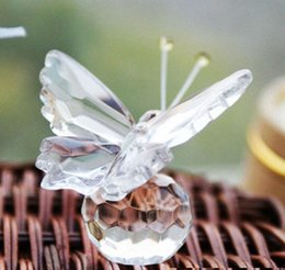 crystal collection favors Australia - 150pcs New Arrive Crystal Collection Precious Butterfly Souvenir Wedding Party Favors For Guest With Box Package Free Shipping