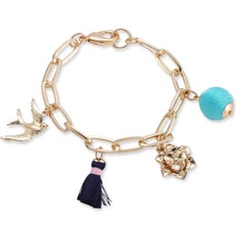 $enCountryForm.capitalKeyWord Australia - Unique Fashion Charm Cloth Ball Flower Bracelets & Bangles Pendant Heart Girl Flower Women Jewelry Romantic Wedding Gifts