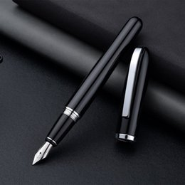 Customize Pens Australia - Baoer516 Luxury Office Fountain Pens black Business Gift Ink Pen dolma kalem Feather pen Exquisite workmanship Can Be Customize
