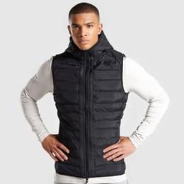 Hommes Sport Sweat à capuche sans manches Gilet Fermeture éclair Veste à capuche Casual gilet Tops Manteau