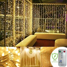 $enCountryForm.capitalKeyWord Australia - Curtain Lights, Wedding Light Remote Control Outdoor Indoor Icicle String Lights for Christmas, Warm White, 300 Leds 8 Mode, UL Certified