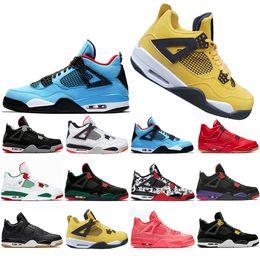 38db5a1e046c51 New Classic Bred Pale Citron Tattoo 4 IV 4s men Basketball Shoes 2019  Pizzeria Singles Day Black cat mens trainers designer Sport Sneaker