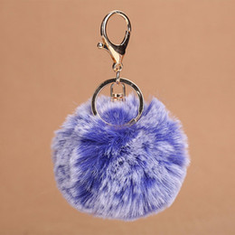 Discount cell phones car accessories - Girl Women Cell Phone Car Handbag Pendant Accessory Decoration Charm Gradient Faux Fur Ball PomPom THINKTHENDO New