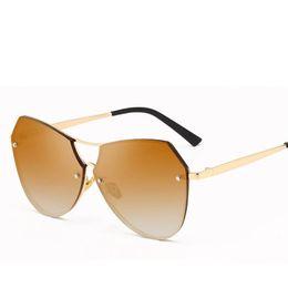 6f4a9c0a8311 SunglaSSeS double lenSeS online shopping - Women Round Double Beam  Sunglasses Men Clear lens Mirror Sun