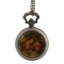 $enCountryForm.capitalKeyWord UK - Vintage Map Souvenir Pocket Watch Chain Retro The Greatest Pocket Watch Necklace Pendant Clock For Grandpa Dad Gifts#1C