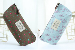 Cute Small Cosmetic Bag Australia - Designer-Countryside Flower Floral Pencil Pen Case Cosmetic Makeup Bag Cute Small Cosmetic Purse Wash Bags 4 Colors