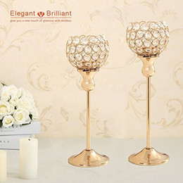 $enCountryForm.capitalKeyWord Australia - Wedding Table Centerpieces Home Decoration Metal Glass Votive Crystal Candle Tealight Holders Candlesticks Stands Party Gift
