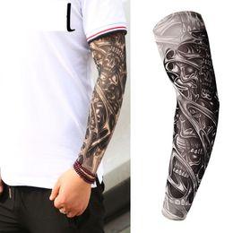 Anti Fashion Men And Women Tattoo Arm Leg Sleeves High Elastic Nylon Halloween Party Dance Party Tattoo Sleeve #105 New Men's Arm Warmers