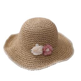 d7d2ea948aa4c6 Fashion floral Girls Hats Summer Kids Hats girls Bucket Hat kids Straw Hat  Children Caps princess beach hat kids hair accessories A5110