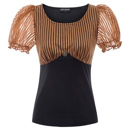 $enCountryForm.capitalKeyWord Australia - Medieval Women's Shirt Lolita Vintage Victorian Renaissance Steampunk Gothic Blouse Ladies Party Evening Short Oansatz Tops Y19071201
