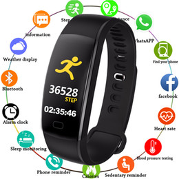 smart watch health heart rate NZ - Smart Wrist Band Fitness Heart Rate Monitor Blood Pressure Pedometer Health Running Sports Smart Watch Men Women For IOS Android
