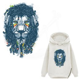$enCountryForm.capitalKeyWord UK - Street Fashion Hip-hop style lion iron on patches for clothes DIY T-shirt jacket hoodie Grade-A Thermal transfer stickers