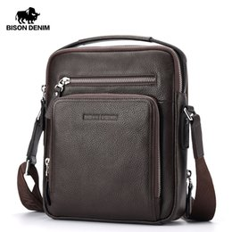 $enCountryForm.capitalKeyWord Australia - Bison Denim Genuine Leather Men's Bag Business Shoulder Crossbody Bag Christmas Gift Designer Handbags High Quality N2333-1 Y19061903