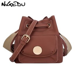 Kpop Bucket Bag for Women Vintage Brown Sac a Main Lady s Wide strap Shoulder  Bags Female Crossbody Bag Casual handbags bolsas c1a69ef6059fc