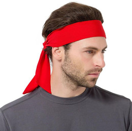 Red headbands online shopping - Tie Back Headbands Sport Yoga Gym Hair bands Outdoor Running Headbands Unisex Head Wear Absorb sweat mesh scarf