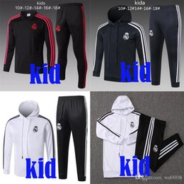Kids Jackets S Letter Canada - New kid Real Madrid tracksuit 2018-2019 Modric soccer jogging jacket Bale 18 19 Kroos hoodie Marcelo Isco Ramos child Football Training suit