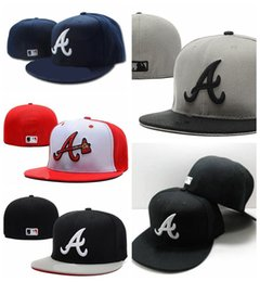 AtlAntA brAve hAts online shopping - Hot Sale cheap Atlanta hats Braves Collection snapback hat Embroidery cap high quality Fitted caps