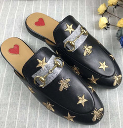 $enCountryForm.capitalKeyWord NZ - 2019Quality Women Princetown Stamp Leather Print Slipper Shoes,Leather Sole,Horsebit detail,Size Free Shipping