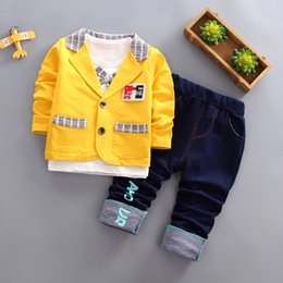$enCountryForm.capitalKeyWord Australia - Boys'Spring and Autumn Suits for Children Three-piece Suits for Boys 1-5 Years Old-fashioned Children's Suits in Korean Edition