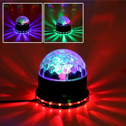 Magic Crystal Balls Canada - Free shipping 15W 2in1 Voice-Activated RGB Crystal Magic Ball 48 LEDs Stage LED Light Auto For Disco Party