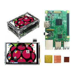 China Raspberry Pi 3 Model B Kit with 3.5 inch dispaly Raspberry Pi3 LCD Touch Screen Display + Acrylic Case + Heat sinks For Raspbery Pi 3 Kit suppliers