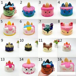 Kids Gadgets Christmas Australia - 16 Style Fidget Squishy PU Christmas Elk Unicorn cake toys squishy Slow rebound squishy Simulation Funny Gadget Vent Decompression toy D0094