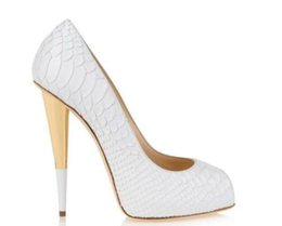 Fish Cut Dresses Australia - White Fish Pattern Leather Spike Heels Women Pumps Famous Brand Designer Prom Party Dress Shoes For Wedding Bride Shoes Woman Big Size 42