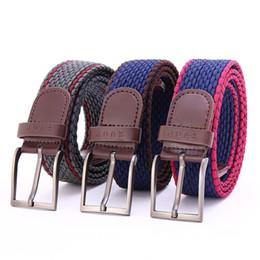 Woven belts for Women online shopping - Men women Elastic Stretch Waist Belt Canvas Stretch Braided Elastic Woven Belt Hot Metal Stretch Belt For Men LJJS269