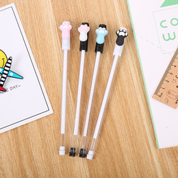 water ice cream 2020 - 40 PCS Creative Ice Cream Neutral Pen Cartoon Learning Stationery Cute Office Water-based Signature Pen Wholesale cheap