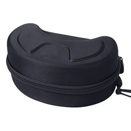 sunglasses snowboard Australia - Protection EVA Snow Skiing Eyewear Case Snowboard Skiing Goggles Sunglasses Carrying Case Zipper Hard Box Holder Eyewear Case