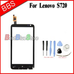 Lenovo Touch Screen Replacement Australia - For Lenovo S720 Touch screen Digitizer 4.5'' Front Glass Touch Panel Sensor Window Replacement S720 Touchscreen With Tools Tape