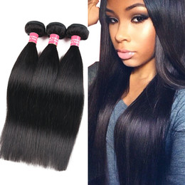 Discount wholesale straight human hair weave - Brazilian Silk Straight Body Wave Deep Wave Kinky Curly Loose Wave 100% Unprocessed Brazilian Peruvian Malaysian Human H