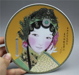 Chinese Porcelain Painting Australia - Chinese fine porcelain plate painted Chinese woman avatar plate