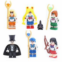 $enCountryForm.capitalKeyWord Australia - 6pcs set Cartoon Girls and Boys Building Blocks Bricks Figures Models Toys Children Educational Gift Toys