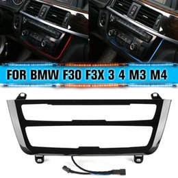 Wholesale For BMW Series F30 M3 M4 LCI Radio Trim LED Dashboard Center Console AC Panel Light Blue Orange Color Atmosphere Light