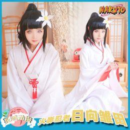 96c2c56e Anime NARUTO COSPLAY Hyuga Hinata COS Halloween Party For MEN&WOMEN Cosplay  Kimono Suit Costume Free shipping