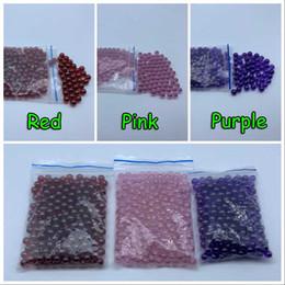 Oil Red Bongs Australia - Wholesale 6mm Quartz Terp Dab Pearls Pink Red Purple Quartz Terp Pearls Ball Insert For Quartz Banger Nails Glass Beaker Bongs Oil Rigs