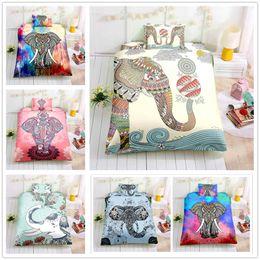 $enCountryForm.capitalKeyWord Australia - Hot Sale Cartoon Elephant Bedding Set Single Double King Size 2 3pcs Home Bedclothes with Pillowcase for kids Comforter Cover Set