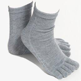 Men's Socks 1 Pair New Five Finger Pure Cotton Sock Autumn Winter Warm Unisx Style Men Women 6 Colors Accessories