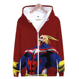 Wholesale japanese school costume for sale - Group buy Japanese Anime My Hero Academia Cosplay Costumes Men Women D Print Funny Hoodie with Zipper Hooded Jacket Coat School Uniform