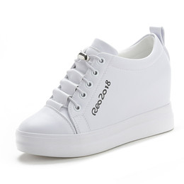 white closed toe wedges Canada - Black White Platform Wedges Shoes For Women Sneakers Platforms Womens Trainers High Heels Sneakers Shoes Sapatilhas Brancas Feminina