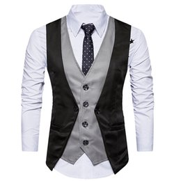 $enCountryForm.capitalKeyWord Australia - Men Formal Tweed Check Double Breasted Waistcoat Retro Slim Fit Suit Jacket Chalecos Para Hombre Dress Vests For Men Slim Fit
