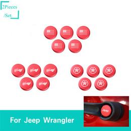 $enCountryForm.capitalKeyWord Australia - 4Door Red Handle Button Trim With Logo For Jeep Wrangler JK 2007-2017 Factory Car Exterior Accessories