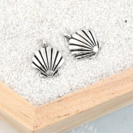 cheap accessories charms NZ - Cheap Charms 40Pcs Silver Color Summer Shell Charms Nautical Beach Pendant Making Jewelry Diy Handmade Accessories 17X14mm A2053